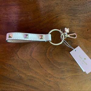 Kate Spade Keychain Studded Leather Bag Charm NWT